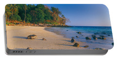 Rocks On The Beach, Phi Phi Islands Portable Battery Charger
