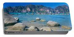 Rocks On The Coast, Phi Phi Islands Portable Battery Charger