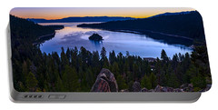 Rocks Over Emerald Bay Portable Battery Charger