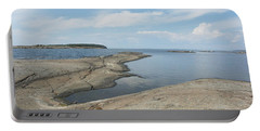 Rocky Coastline In Hamina Portable Battery Charger