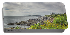 Portable Battery Charger featuring the photograph Rocky Maine Shoreline by Jane Luxton