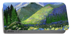 Rocky Mountain Spring Portable Battery Charger by Jamie Frier