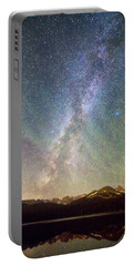 Rocky Mountains Indian Peaks Milky Way Rising Portable Battery Charger
