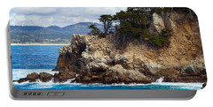 Rocky Outcropping At Point Lobos Portable Battery Charger