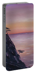 Rocky Sunset Portable Battery Charger by Barbara St Jean