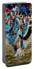 Portable Battery Charger featuring the photograph Rodeo Indian Dance by Gary Keesler