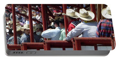 Rodeo Time Cowboys Portable Battery Charger by Susan Garren