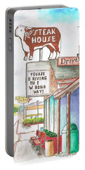 Rod's Steak House In Route 66 - Williams - Arizona Portable Battery Charger