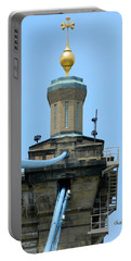 Portable Battery Charger featuring the photograph Roebling Bridge From Kentucky by Kathy Barney