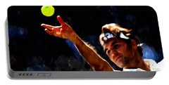 Roger Federer Tennis 1 Portable Battery Charger