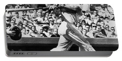 Roger Maris Hits 52nd Home Run Portable Battery Charger by Underwood Archives