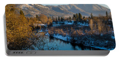 Rogue River Winter Portable Battery Charger by Mick Anderson
