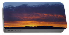 Rogue Valley Sunset Panoramic Portable Battery Charger by Mick Anderson