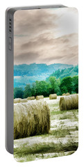 Rolled Bales Portable Battery Charger by Mick Anderson