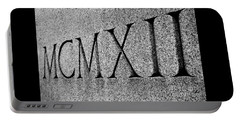 Roman Numerals Carved In Stone Portable Battery Charger
