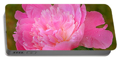 Pink Peony Portable Battery Charger by Eunice Miller