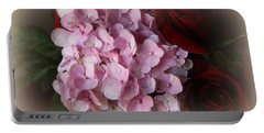 Portable Battery Charger featuring the photograph Romantic Floral Fantasy Bouquet by Kay Novy