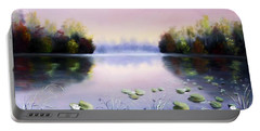 Romantic Lake Portable Battery Charger by Vesna Martinjak