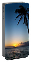 Portable Battery Charger featuring the photograph Romantic Maui Sunset by Joann Copeland-Paul