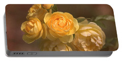 Romantic Roses Portable Battery Charger by Joy Watson