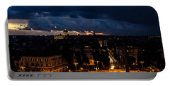 Rome Cityscape At Night  Portable Battery Charger by Andrea Mazzocchetti