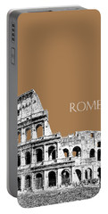 Rome Skyline The Coliseum - Brown Portable Battery Charger