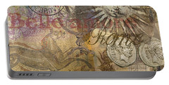 Rome Vintage Italy Travel Collage  Portable Battery Charger