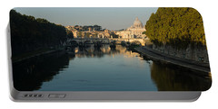 Portable Battery Charger featuring the photograph Rome Waking Up by Georgia Mizuleva