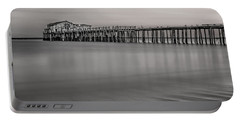Romeo's Pier Bw Portable Battery Charger by Linda Villers