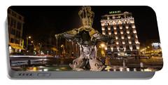 Rome's Fabulous Fountains - Bernini's Fontana Del Tritone Portable Battery Charger