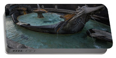 Rome's Fabulous Fountains - Fontana Della Barcaccia At The Spanish Steps  Portable Battery Charger