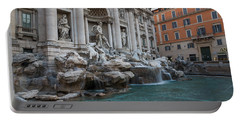 Rome's Fabulous Fountains - Trevi Fountain - No Tourists Portable Battery Charger
