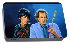 Ron Wood And Keith Richards Portable Battery Charger by Paul Meijering