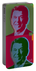 Ronald Reagan Portable Battery Charger by Jean luc Comperat