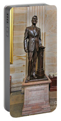 Ronald Regan -  U S Capitol Statuary Hall Portable Battery Charger by Allen Beatty