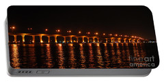 Portable Battery Charger featuring the photograph Roosevelt Bridge Panorama by Olga Hamilton