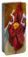 Rooster Face Portable Battery Charger