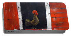 Rooster In Window Portable Battery Charger