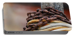 Portable Battery Charger featuring the photograph Rope And Chain by Wendy Wilton