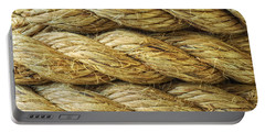 Rope Background Texture Portable Battery Charger