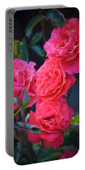 Rose 138 Portable Battery Charger by Pamela Cooper