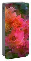 Rose 219 Portable Battery Charger by Pamela Cooper