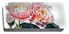 Pink And Yellow Rose Anne Portable Battery Charger