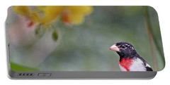 Rose Breasted Grosbeak Photo Portable Battery Charger by Luana K Perez