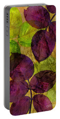 Rose Clippings Mural Wall Portable Battery Charger by Claudia Ellis