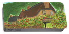 Portable Battery Charger featuring the painting Rose Cottage by Tracey Williams
