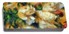 Rose Garden Abstract Expressionism Portable Battery Charger