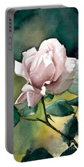 Watercolor Of A Lilac Rose  Portable Battery Charger