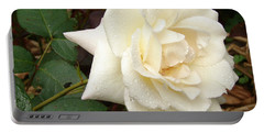Rose In The Rain Portable Battery Charger