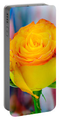 Yellow Rose Macro Portable Battery Charger by James Hammond